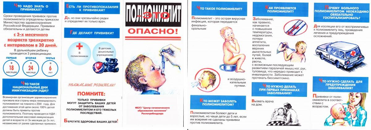 буклет про полиомиелит